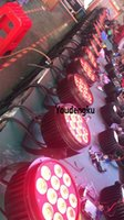su geçirmez 6 adet 12x12w 4in1 led par 64 RGBW DMX ip 65 led par ışık par led