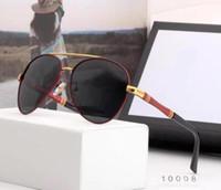 새로운 남성 선글라스 명품 상자와 남자 스타일 G10008 우수한 품질 유리 핫 톱에 선글라스 여름 패션 선글라스
