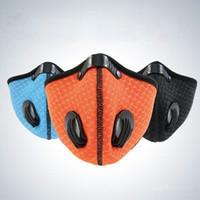 Máscaras US estoque! New Dustproof ativado máscara de carbono poeira com filtro extra folha de algodão para a execução de atividades ao ar livre Ciclismo Máscaras FY9075