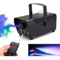 LED Sahne Sis Makinesi hızlı Noel partisi dj uzaktan fogger ejektör LED disko renkli duman makinesi mini'yi nakliye.