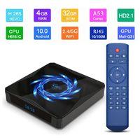 جديد X96Q TV MAX صندوق الروبوت 10.0 4GB 32GB / 6GB 2.4G 5G واي فاي بلوتوث H616 ALLWINNER 4K 6K ميديا بلاير