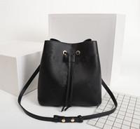 원래 높은 품질 패션 디자이너 명품 핸드백 지갑 Neonoe 버킷 가방 여성 브랜드 클래식 스타일 정품 가죽 어깨 가방