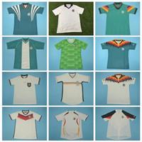 1980 1992 1996 Vinatge 독일 Matthaus 레트로 축구 유니폼 발락 Kroos Draxler Reus Gotze Kahn 축구 셔츠 키트