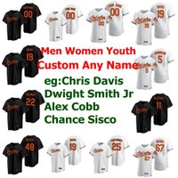 16 Trey Mancini Femmes Jersey 19 Chris Davis 8 Cal Ripken Jr. Roberto Alomar Manny Machado Tim Beckham Baseball Jersey personnalisés Cousu