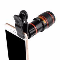 Telescópio Len 8x Telefone Portátil Celular telefoto lente da câmera com a Universal Clipe para Smartphone