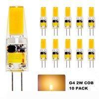 10X G4 2W LED لمبة، G4 COB LED الإضاءة، 20 وات G4 ضوء الهالوجين لمبة استبدال، 210LM، 2700-3000K دافئ الأبيض، 12V AC DC