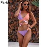 NEW 2020 Verpackung um Bikini brasilianischen Badeanzug weibliche Badebekleidung Frauen Zweiteilige Bikini-Satz-Verband Badende Badeanzug Schwimmen V1857