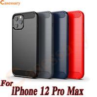 Karbon Elyaf Doku TPU Kılıf iPhone için 12 Pro Max Se 2020 LG Stylo 6 Harmony 4 Kadife Piksel 5 Samsung Note 20