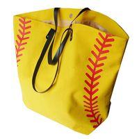 Bolsa de lona de beisebol bolsa Tote Sacos de Desporto Moda Softball Bolsa de Futebol Futebol Basquete lona de algodão Tote Bag LJJA