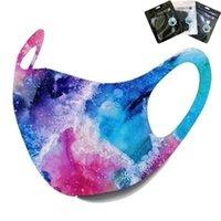 10 estilos en la acción Máscaras del cielo estrellado de la galaxia camuflaje Cara modelo de máscara máscaras oído de la boca Loop cubierta de la cara Máscaras lavable bolsa al por menor Boom2016