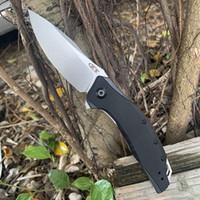 원래 색상 상자와 ZT0357 접는 칼 G10 핸들 EDC 야외 하이킹 칼 상당 56HRC 베어링 포켓 나이프