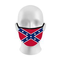 3D Baskı Konfedere Bayraklar mascarilla Yeniden Yıkanabilir Yüz Maskeleri Polyester Elyaf Respiratörü Yıkanabilir Trump Seçim 2 8hk D2
