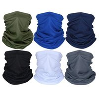 New Multi-Funcional Bandana Bandana Sólidos Magic Color Seamless Bandanas Ciclismo Máscara Facial Escudo Chefe Outdoor Sports Acessório