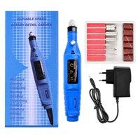 Mini Elektrikli Öğütücü Sondaj ve Freze Kesici Jel Tırnak Temizleme Matkap Manikür Makinesi Rotasyon Aracı Kiti