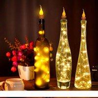 2M 20LED rame lampada Wire bottiglia di vino della lampada sughero bianco caldo pile della luce della stringa per il partito fai da te LED decorazione di Natale