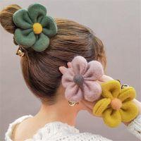 Büyük Çiçek kore Stil Hariy Saç Klip Elastik Saç bandı Saç accessoreis İçin Kadınlar Kızlar at kuyruğu Tutucu Scrunchies Tokalar