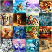 5D Elmas Boyama Tam Yuvarlak Elmas DIY Ev Dekorasyon Yeni Hayvan Dünya Elmas Nakış Seti