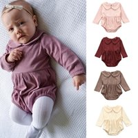 Autumn Newest INS Long Sleeve Bodysuits Baby Girls Rompers T...