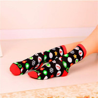 Christmas Style Cotton Short Socks for Women 5 Cute Patterns...
