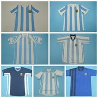 1978 1986 1994 Football Argentine Retro Jersey 10 MARADONA 19 MESSI 9 Batistuta 10 ORTEGA 8 RIQUELME 10 KEMPES Vinatge football Kits chemise