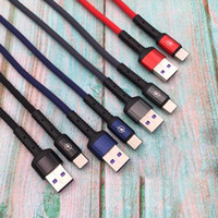 2.4A Datos de carga Aliminum Shell Nylon Braid Type-C Micro USB cable de cable para Android Samsung Huawei CARGER SYNC CABLES 1M
