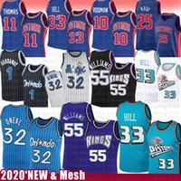 Jason Williams 55 Grant-33 Hill Shaquille O'Neal 32 Basketball Jersey Piston Magics Penny Derrick Rose Hardaway Isiah Dennis Thomas Rodman