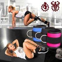 D-ring avec boucle cheville boucle Adjustable Ankle Weights Gym Leg Manchettes Puissance Haltérophilie Fitness Corde 2020