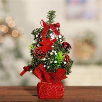 2020 شجرة عيد الميلاد 20CM السنة الجديدة المنضدة الجدول الديكور الاصطناعي البسيطة شجرة عيد الميلاد زينة مصغرة بالجملة