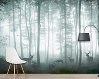 beibehang Пользовательские обои фантазии леса гостиная спальня фоне стены украшения дома телевизор фон фреска 3d обои