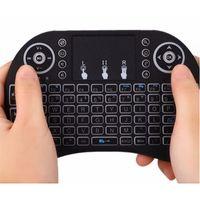 Mini teclado inalámbrico I8 2.4G MULTI COLOR Backlit Keyboard Mini Android TV Box Control remoto para Tablet PC Smart TV Envío gratuito