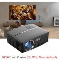 GP80 GP80UP LED البسيطة المحمولة العارض مسرح منزلي دعم كامل HD 1080P 4K الاختياري الروبوت بلوتوث اللاسلكية WIFI متعاطي المخدرات 1PCS