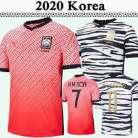 2020 Coréia Mens Futebol Jerseys National Team U J Hwang I B Hwang C H Kwon H C Hwang H M Filho Casa Away Camisa de Futebol Fardos de Manga Curta