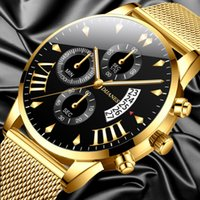 Classic Business Men Watch Fashion Luxury watches stainless ...