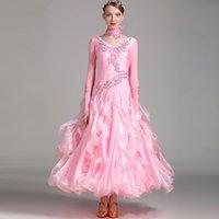 Etapa desgaste vestido de salón de baile estándar Mujeres de la competencia Danza para vestidos de rumba Trajes de Tango Waltz