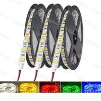 LED Strip Light 500m RGB Wit Warm Wit LED Strip Light 5M Sudder Bright 2835 5050 SMD Niet-waterdicht 300 LED's DC12V DHL