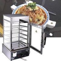 machine à pain cuit à la vapeur commerciale Capacité de bureau grande boîte à vapeur en verre à vapeur électrique pain cuit à la vapeur pain armoire chauffage