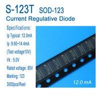 Постоянный токовый диод, текущий регулятор, диод, CRD, S-123T, SOD-123, SMD, типичный 12,0 мА, применяется для светодиодного освещения, светодиодные лампы