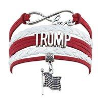 Trump Weaving Bracelet 2020 Keep America Great Encore une fois Trump Wristband Etats-Unis Bannière Président Mode Bracelet Fournitures Élection GGA3616