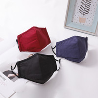 Мода анти пыль смог загрязнение многоразовая ткань моющиеся 3 слоя черная маска для лица хлопок производитель