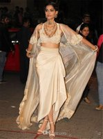 Indie Sarees Seksowne suknie wieczorowe z kurtką i rękawami V Neck Aplikacje Robe de Soiree Szyfonowa Długa Sukienka Wieczorowa Vestidos Rates de Soire