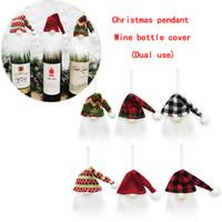Nordic Ältere Weihnachten Weinflasche Abdeckung Weihnachtsschmuck Anhänger Festliche Geschenke Restaurant Hotel Szene Dekoration Großhandel