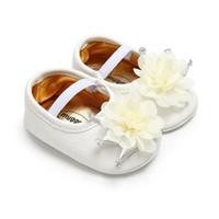 첫 번째 워커 여름 가을 유아 아기 신발 꽃 bowknot moccasins 태어난 소녀 부츠 유아 0-18 m