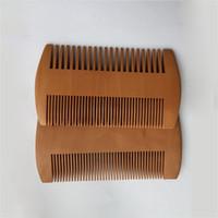 Burlywood double face Peigne super épais Bois Barbe Raffinez Combs coiffure Styling Brush soins de santé Peach Pocket Barber 1 85my B2