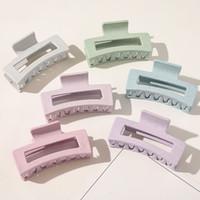 Neue einfache frauen haarklammern große geometrische haarnadelkrebs fest farbe haarklauen clips für frauen haarschmuck