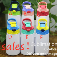 New 350ml sublimation sippy cup for children blank DIY kid t...