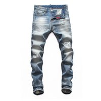 2020 Clothing Pants Men Destroyed Mens Slim fashion grinding...