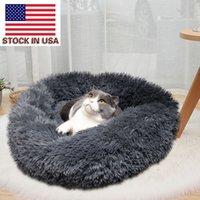 furry comfortable kennel winter warm cat dog puppy cushion mat sofa washable plush pet bed USA-stock