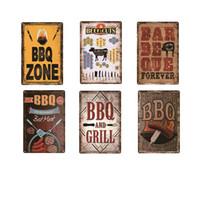 BBQ Zone délicieuse bière Fille Vintage Plate Métal Accueil Garage Restaurant Bar Pub Café décoratif Wall Art Poster Tin Rétro signe 20x30cm