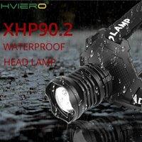 Farlar 300000 LM XHP90.2 LED Far XHP90 Yüksek Güç Kafa Lambası 36 W USB 18650 Şarj Edilebilir XHP70 Işık XHP50.2 Zoom far