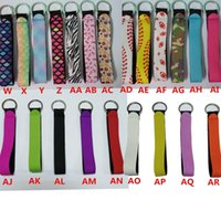Neoprene Key Chain Bag Charmer Keychain With Metal Buckles In Front for Wedding Favors Gift